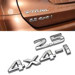 2019 auto adhesivos 4x4 Auto Rear 2.5 4X4-i Calcomanía para Nissan X-trail Tiida Altima Qashqai Leaf Juke Note T32 T31 Murano Disposición de la etiqueta engomada de desplazamiento auto adhesivos 4x4 baratos