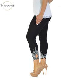 Plus größe legging grau online-Heiße gute Qualität Frauen-Gamaschen-dünne Druck Knöchel-Längen-Legging Unterhos Plus Size Leggings weiblich 5Xl Schwarz Weiß Grau