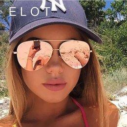 óculos de sol oversized homens atacado Desconto Atacado-ELOT Designer de marca de moda Oversized piloto Oval óculos de sol mulheres homens moldura de armação de espelho de condução óculos de sol feminino