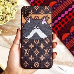 Gato de natal caso de telefone de luxo para iphone x xs xr xs max 6 6 plus 7 7 mais 8 8 plus couro + tpu case capa protetora de volta case de