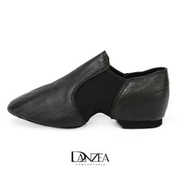 women jazz shoes Promo Codes - Danzea Adult profession Training Genuine Leather High Quality Jazz Dance teacher Shoes Arts Examination Leather Shoes Breathable Solid Soft