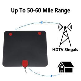 Télévision numérique blanche en Ligne-USB Antenne Tv Numérique Intérieure 50-100 Milles Signal Signal 1080P Amplifié HDTV Blanc Noir avec Antenne Réceptrice