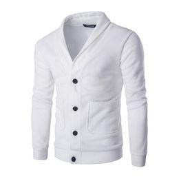 ropa coreana envío gratis hombres Rebajas Hombres de la moda chaqueta de punto de ajuste delgado del color sólido de los géneros de punto del estilo coreano Vestimenta Hombre con cuello en V envío Tops tamaño asiático