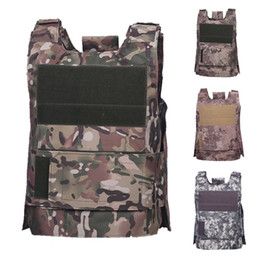vest hunting Promo Codes - Unloading Vest Tactical Combat Vest Army Molle Paintball Equipment Protective Hunting Camouflage Clothing
