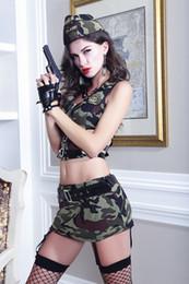 2019 traje uniforme do exército Sex Cosplay Underwear Uniformes Camuflagem Terno Sexy Camuflagem Perspectivas Trajes Do Exército traje uniforme do exército barato