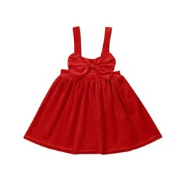 Платья для девочек из флиса онлайн-Toddler Baby Kid Girl Clothing Fleece Xmas Dress Pageant Sleeveless Party Princess Bow Tutu Dresses Autumn Girl 1-6T