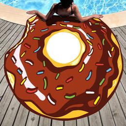 Frutta di seta online-Asciugamano da spiaggia Asciugamani da spiaggia rotondi caldi Stampa Sciarpa di seta moda Tappetino da yoga Ananas Arance Ananas 13 Disegni 19yd E1