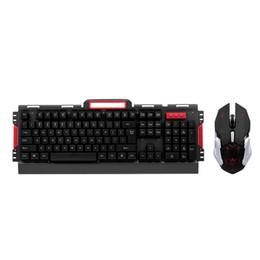 2019 drahtlose tastatur metall Wireless Keyboard und Mouse Combo 2.4G Metall Panel Tastatur Optische Maus 2400DPI Ergonomisches Design für PC Laptop günstig drahtlose tastatur metall