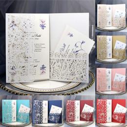 Tascheneinladungen online-Personalisierte Hochzeitseinladungskarten Laser Ausgehöhlte Taschengrußkarten Verlobungs-Geburtstagsfeier-Einladungen Hochzeitsfeier-Versorgung