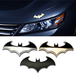 3d auto stickers Coupons - Stylish 3D Metal Personality Bat Auto Sign Car Sticker Metal Batman Badge Emblem Tail Applique