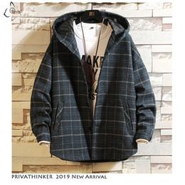 herren winter tuch jacke Rabatt Man Streetwear 2019 Woolen Cloth Jacken Mens Thick Windbreaker Jacket Herren Herbst Winter Japanese Oversize Jacket