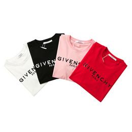 venta al por mayor de la muchacha de la cabeza Rebajas Marca camisetas de mujer Tops de verano Camisa para mujer Moda Camisetas de manga corta Camisetas de lujo Marca Rojo Rosa Negro Camisa blanca S-2XL