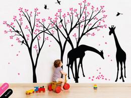 Autocollants pour oiseaux pour nursery en Ligne-Girafe Decal Jungle Nursery Birds Mur Autocollant Sexe Neutre Stickers Muraux Amovible Bébé Chambre Décor BRICOLAGE Pour Les Enfants Chambre 722T