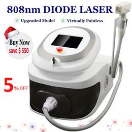 Rimozione dei capelli del laser diodo portatile online-2020 Portable diodo Laser Hair Removal macchina 808nm Ice Point Soprano Lazer Diode rimuovere i peli in modo permanente painfree