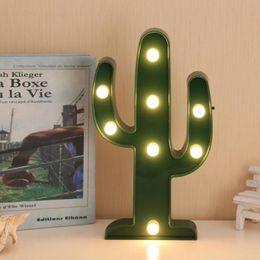 Tabela Cactus Lamp Decor 3D LED Noite Romântica Cactus Natal Luz Início Decoração Quarto Branco Branco Quente SY0364 de Fornecedores de o bolo de casamento é ouro