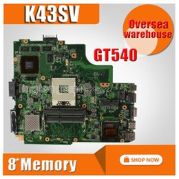 2019 placas base de fru Placa base K43SV REV3.0 GT540M 1GB para ASUS A43S K43S K43SJ A84S X43S Placa base para computadora portátil K43SV Mainboard