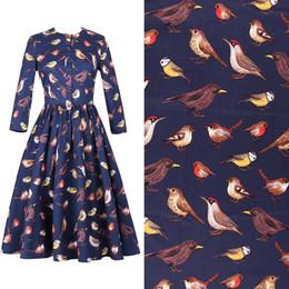 2019 abbigliamento libero dell'uccello 2019 New Free Craft Fai-da-te in tessuto Cotone ad alta densità Stretch Popeline e abbigliamento The Bird Stampa Half Rice Spot Fabrics abbigliamento libero dell'uccello economici