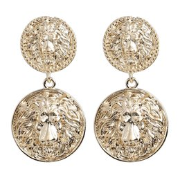 bbe61db1351 Exaggerated Alloy Lion Head Vintage Ethnic Dangle Earrings For Women  Accessories Fashion Baroque Collection Earrings Jewelry