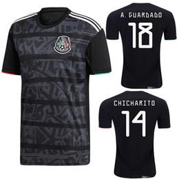 ea99f49e369 2019 Mexico CCCF Gold Cup home kit black Soccer Jersey HERRERA LAYUN CHICHARITO  19 20 H.LOZANO national team shirt Football top Uniform