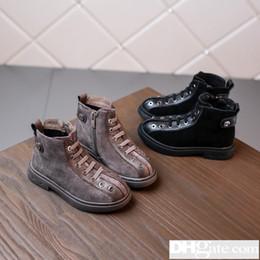 c998671932 2019 Primavera Año Nuevo Patrón Niños Año Zapatos de niña Hombre Moda  Edición coreana Letra Niños solteros Y-30