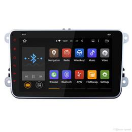dvd de passat Rebajas Quad Core 1024 * 600 2 Din Android 5.1 Radio de coche Audio Audio Reproductor de DVD Navegación GPS para Volkswagen VW Passat Scirocco Polo (con canbus)