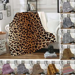 carro xmas Desconto 18styles Lepard impresso cobertor 3D car office cobertores de inverno Swaddling Cama Quilt Nap Blanket Xmas Início tapete 150 * 130 centímetros