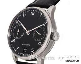 Часы португальские онлайн-часы Часы часы продаж MENS NEW Portuguese Automatic 7 Day Автоматическая черный циферблат часов