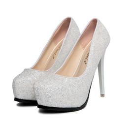 Argentina 2019 Spring Sexy ladies tacones altos Zapatos de cristal blanco Lentejuelas superior Cena vestido vestido zapatos Boda vestido zapatos Suministro