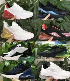zapatillas multicolor Rebajas nike air max 270 2019 Nuevas llegadas Hombres Zapatos Negro Triple Blanco Cojín para mujer Zapatillas de deporte de moda para hombre Zapatillas de deporte de atletismo tamaño 36-45