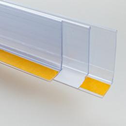 2019 banner werden angezeigt L Shap Label Holder Strip Klebeschild Clip Regal Talker Edge Card Cover Pop Werbebanner Preisschild Display Datenstreifen rabatt banner werden angezeigt