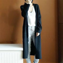 Argentina Abrigo de lana para mujer 2019 Invierno Casual Estilo coreano Abrigo largo y delgado de Wollen para mujer Sólido Negro Naranja Gris Señoras rompevientos supplier women korean style coat gray Suministro