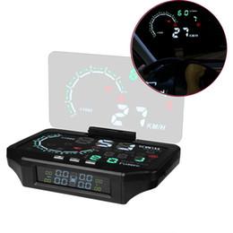 bluetooth hud Rabatt Bluetooth Auto HUD Head Up Display Auto TPMS HUD Reifendruckkontrolle Sensor Farbprojektion Überdrehzahl Alarm Diagnose