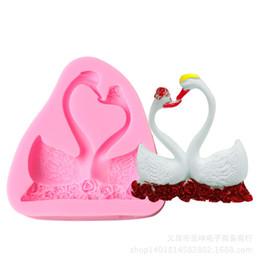 cisne de fondant Desconto Nova marca fondant bakeware bolo 3d mold cisne em forma de decoração do partido ferramentas do bolo diy moldes de cozimento de silicone de casamento