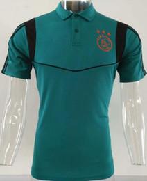 magliette di calcio di polo Sconti Top qualità 2019 2020 polo da calcio Ajax polo 19 20 RONALDO DYBALA uomo polo shirt