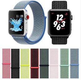 montres légères Promotion Bande de remplacement en nylon pour boucle de sport de haute qualité pour la montre Apple Watch série 1 2 3 4 légère et respirante, tissée, sangle 38 40 44 42 42 mm