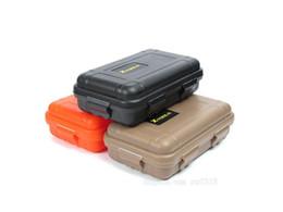 Caja de supervivencia hermética impermeable de plástico de tamaño pequeño al aire libre Contenedor Camping Viaje al aire libre Llevar Caja de almacenamiento Etiqueta de logotipo personalizada desde fabricantes