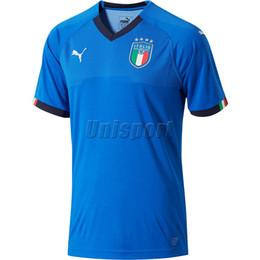 camisetas de futbol de italia Rebajas Copa Mundial 2018 Italia Home Soccer Jerseys Buffon Totti Insigne Immobile Futbol Camisa Italia UNL Camisetas Maillot Maglia Tops