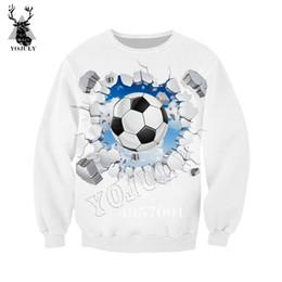 suéter del fútbol del chándal del hombre Rebajas Unisex desgaste de la calle de Hip hop Pullover Hombres Mujeres chándal informal de fútbol superior de impresión en 3D de Harajuku sudadera con capucha Y521