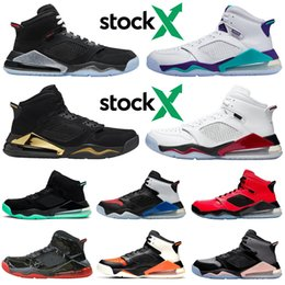 sports fire Coupons - Mars 270 270s stock x mens basketball shoes jumpman Black Metallic bred DMP Grape Fire Red Green Glow athletic men trainers sports sneakers