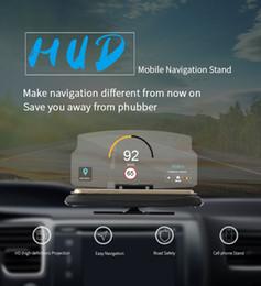 2019 yeni fabrika Evrensel kablosuz HUD GPS smartphone tutucu mobil navigasyon destek projektör araba hediye için braketi ekran standı nereden hayvan telefon tutucuları tedarikçiler