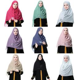fester roter schal chiffon Rabatt Frauen Schwarz Braun Rot Einfarbig Chiffon Schal Hijab Wrap Sommer Blumen Schals Stirnband Muslim Hijabs Schals Schal