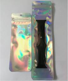 Relógios de cor pacote on-line-Luxo 6 * 17 cm Folha de Alumínio Pacote de Pacote de Saco de Armazenamento De Cor Mylar Zip Lock Resealable Exibição Zipper Bag para a Apple Watch Band