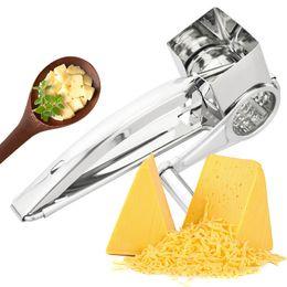 терка из нержавеющей стали Скидка 4 барабана лезвия терка из нержавеющей стали измельчитель сыра измельчитель масла резак кухонные гаджеты Q190604