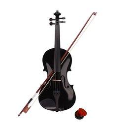 violões profissionais Desconto New 4/4 Caso violino acústico Rosin Preto Bow