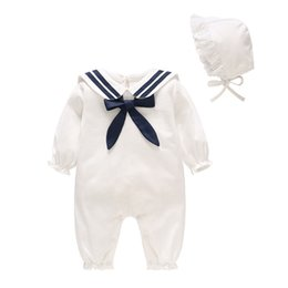 5ae2402150b6 China children  039 s clothing 2019 spring newborn clothes white navy wind  baby onesies. children s ...