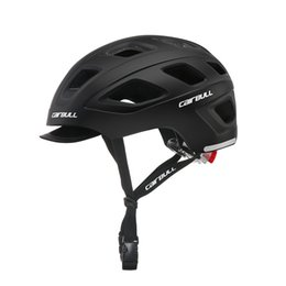 road bike helmet for women Promo Codes - cycling helmet with LED road MTB city bike helmet sun visor road bicycle for Utility women men ciclismo bicicleta