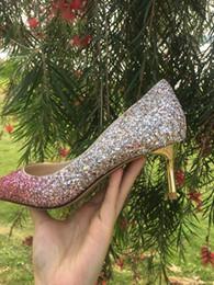 2019 Braut Hochzeit Schuhe Hochzeit Pumps Schnalle Kristall High Heel Schuhe Strass Perle Funkelnde Hochzeit Prinzessin Schuhe fh19022708 von Fabrikanten
