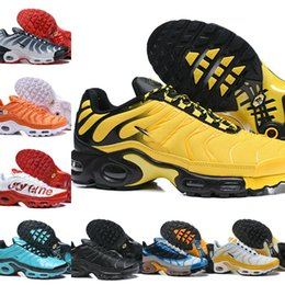 moda látex dos homens Desconto 2019 New Air Plus Revive O Padrão de Grade de Onda Original Para O Tn Mens Sapatos Tn Requin Moda Respirável Malha Sports jogging Sneakers