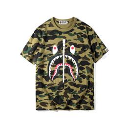 292e929c62f2 Chinese Brand Mens women Tshirt Camouflage Shark Printing Short-sleeved T  Shirts Tees Sweater Shirts