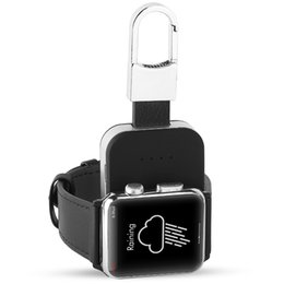 Chargeur de batterie extérieur en Ligne-Batterie externe Chargeur sans fil QI pour Apple Watch iWatch 1 2 3 Chargeur sans fil Power Bank Chargeur extérieur portable 950mah